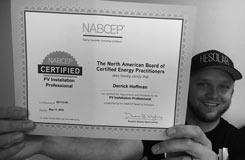 NABCEP Solar Certificate holder Derrick Hoffman