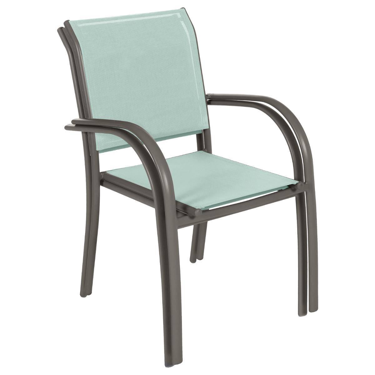 fauteuil de jardin empilable piazza vert celadon graphite hesperide com