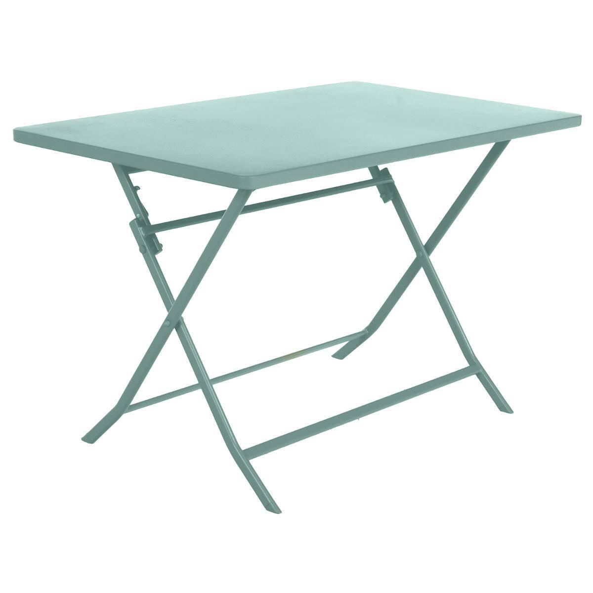 table de jardin pliante rectangulaire greensboro vert celadon hesperide com