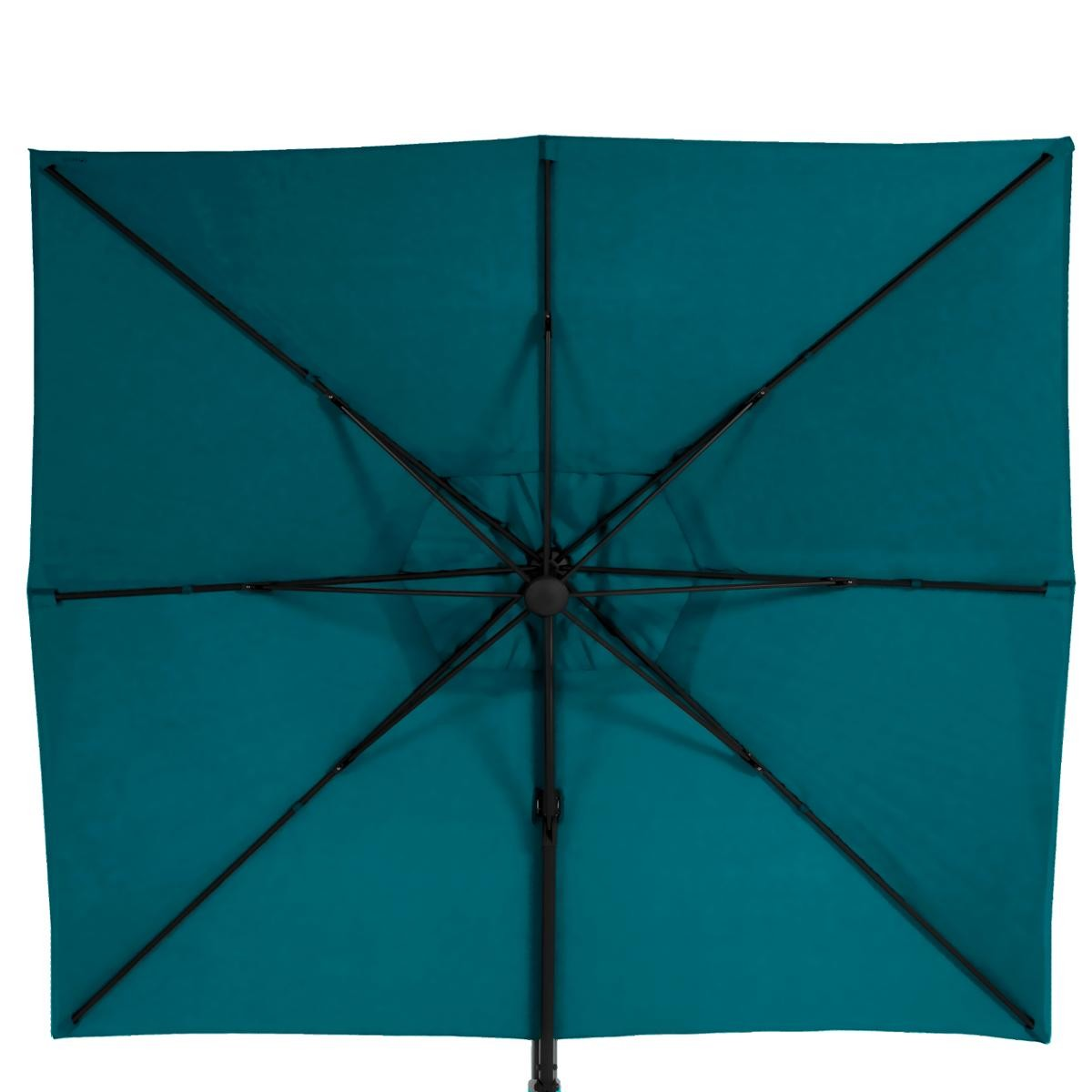 parasol deporte rectangulaire inclinable elea bleu canard hesperide com