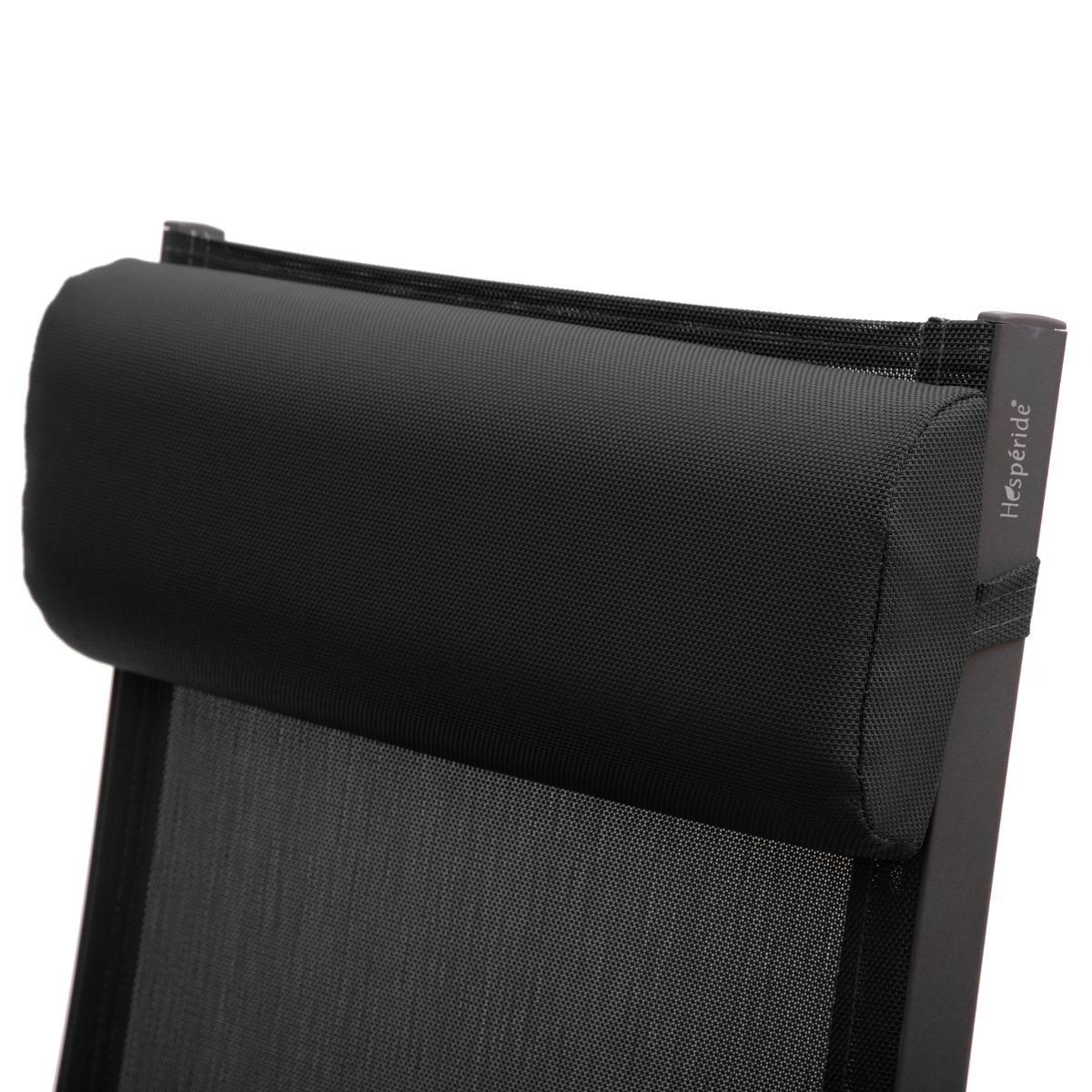 fauteuil de jardin inclinable decima anthracite graphite hesperide com