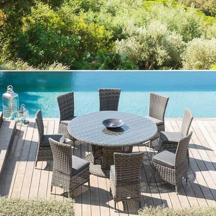 table de jardin ronde table ronde