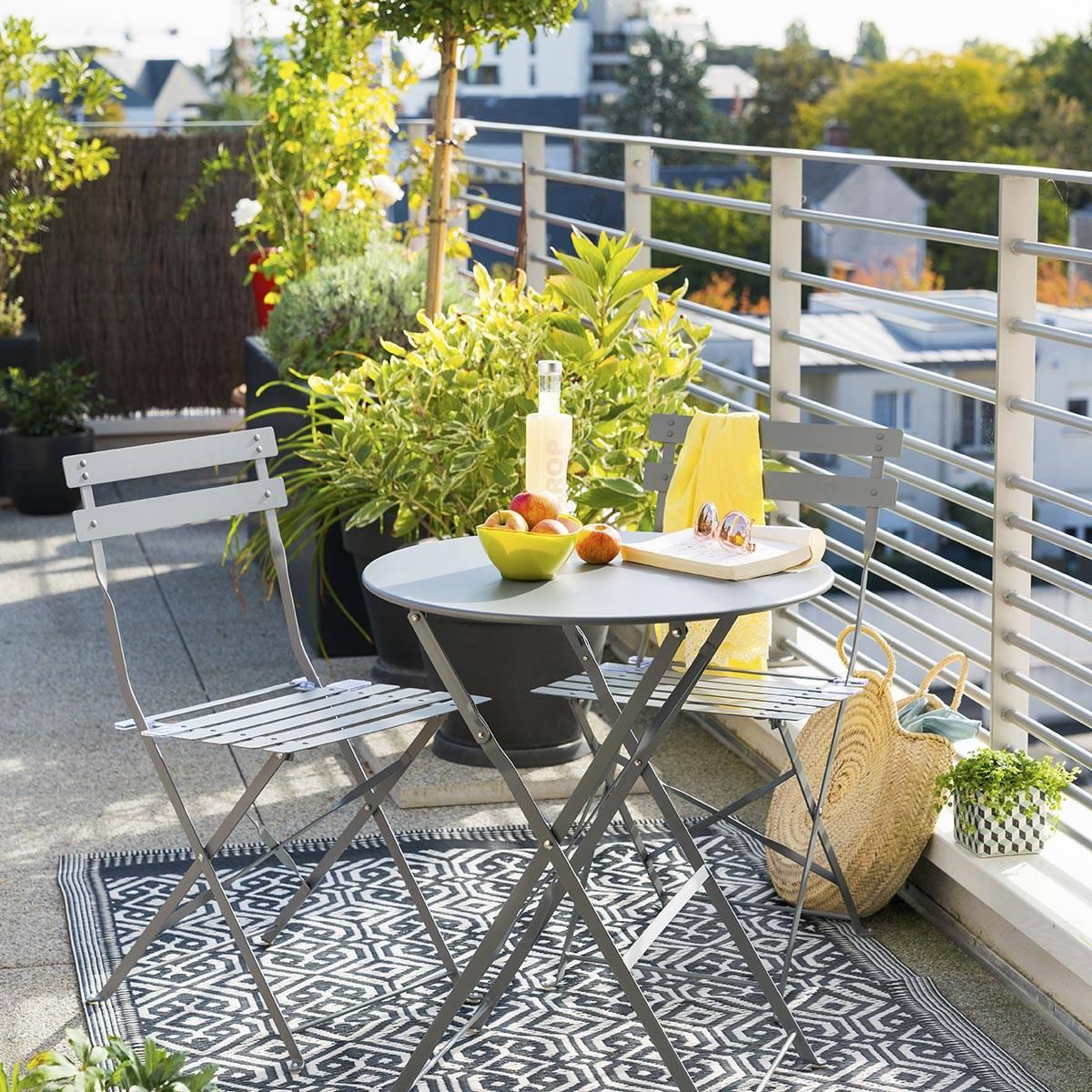 table de jardin pliante ronde camargue ardoise mat hesperide com
