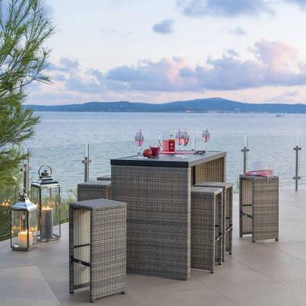 bar table haute de jardin tabouret de