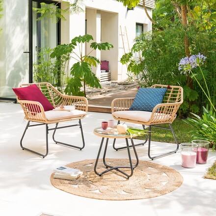 salon de jardin lambada sesame avec table basse ronde hesperide com