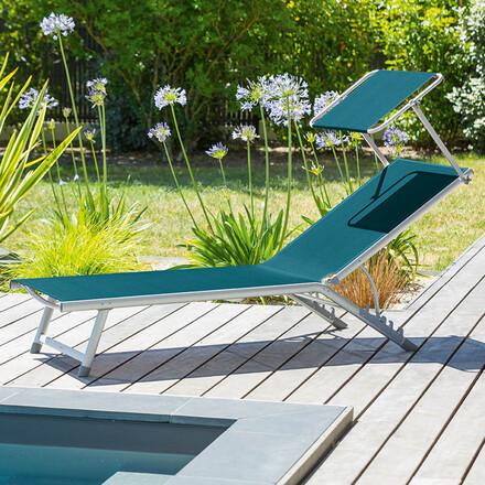 chaise longue et transat de jardin