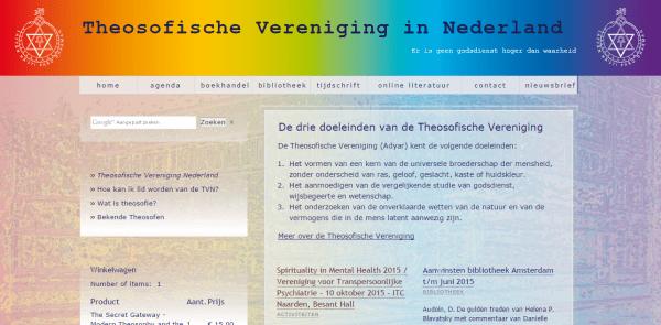 Website van de Theosofische Vereniging in Nederland.