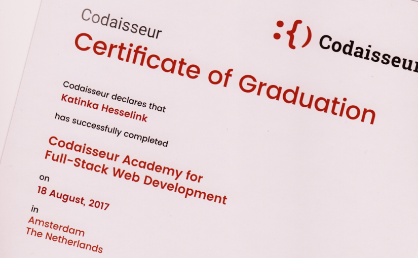Web Developer Certificaat van Codaisseur