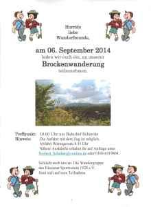 Brockenwanderung 06.09.2014