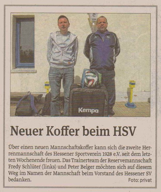 Neuer Koffer Hessen II.