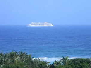 Cruise ship spotted from our balcony