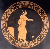 A ceramic pot from 500 b. C. exhibithed in the National Museum of Athens, which shows a boy playing with a yo-yo By User:Bibi Saint-Pol, own work, 2008, Public Domain, https://commons.wikimedia.org/w/index.php?curid=3624973