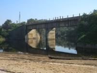 Railway bridge over the Mvusi River estuary