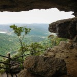 View over the Oribi Gorge from inside the caves - Lake Eland Nature Reserve