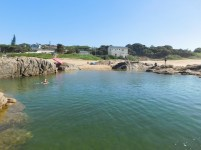 Swimming in the Southport Beach tidal pool
