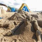 St Michaels on Sea Beach in KwaZulu-Natal sand art