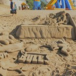 St Michaels on Sea Beach in KwaZulu-Natal sand art damaged by mischievous passersby