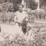 My mother and I in the Company's Garden in Cape Town circa 1958