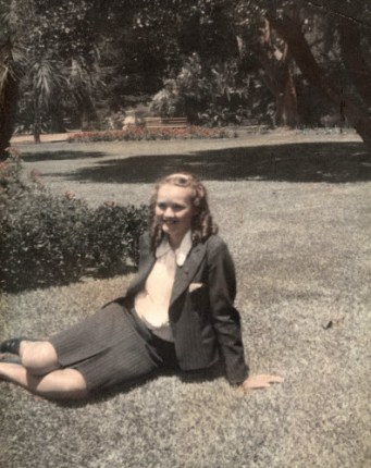 My mother in the Company's Garden in Cape Town circa 1941
