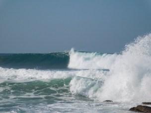 Indian ocean waves breaking on the Soutcoast KZN shores