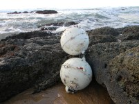 Buoys washed ashore
