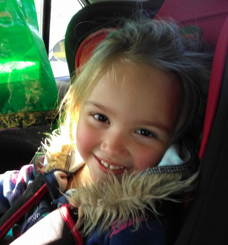 Our 3-year-old granddaughter