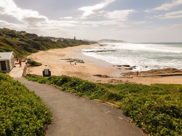 Security guards at Umzumbe Beach, KwaZulu-Natal captured from the top of the pathway leading down to the beach