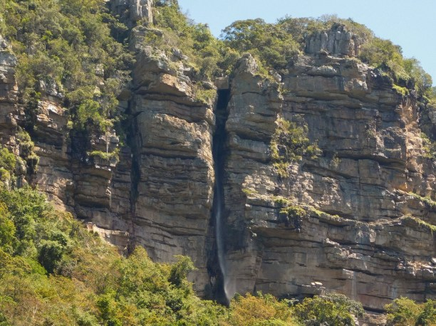 One of the many small waterfalls that formed in the cliffs of the Oribi Gorge, KwaZulu-Natal