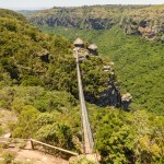 The basin of the Oribi Gorge, KwaZulu-Natal viewed from the Lake Eland plateau