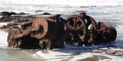 SS Nivonia, South African Whaler wrecked in July 1935 on the Kwazulu-Natal South Coast.