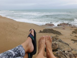 Resting weary feet and enjoying the view over at Sea Park Beach