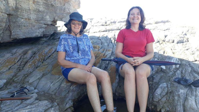 Southport, KwaZulu-Natal met ons voete in 'n rotspoeletjie.