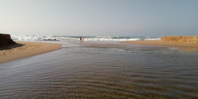 River mouth opening At Umtentweni