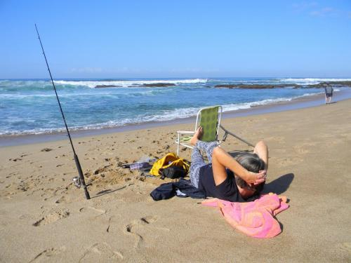 Laidback fishing on Sea Park Beach