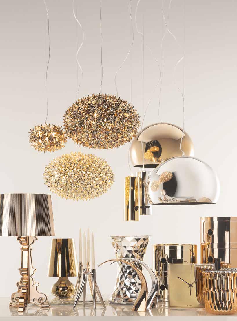 Het Design Entrepot Kartell lampen goud