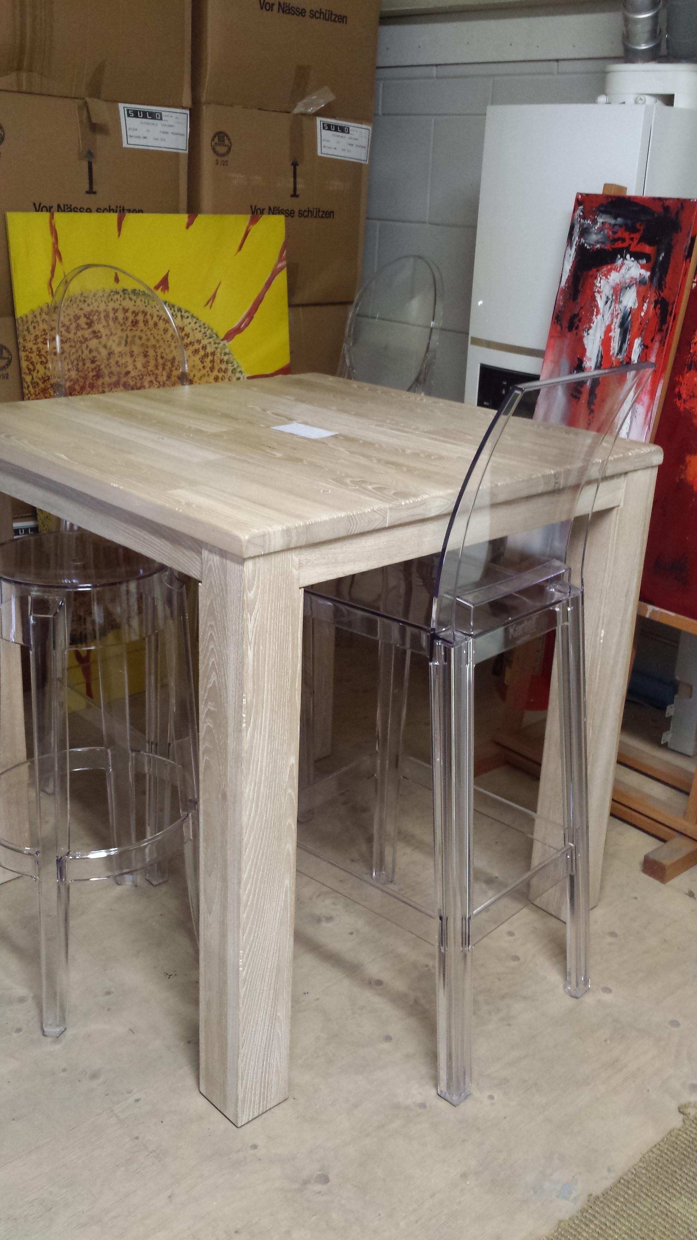 Robuust houten bartafel eettafel proof verhuis sale het for Houten bartafel