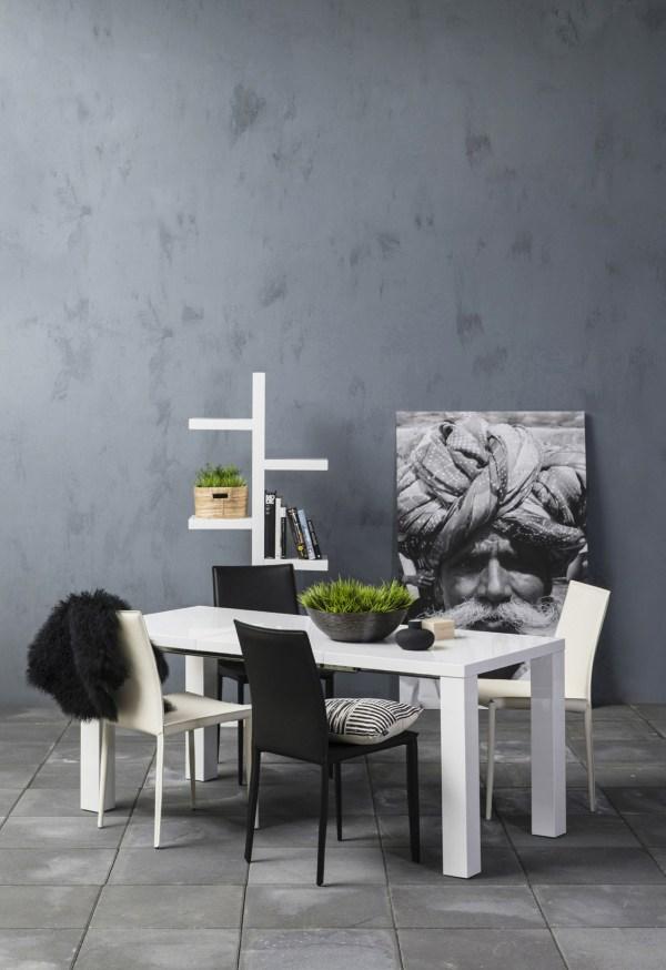 Hoogglans witte tafel Glossy