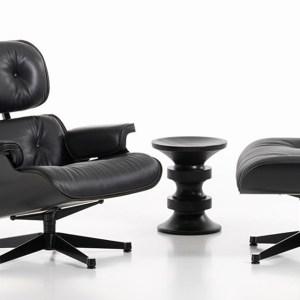 Vitra Eames Lounge Chair en Ottoman zwart