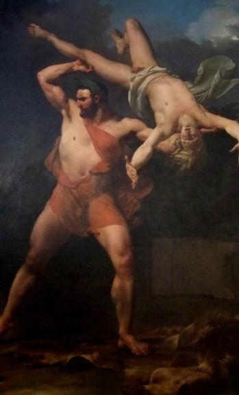 Jean-Baptiste Mauzaisse, Hercule et Lycas, 1820, musee de Grenoble