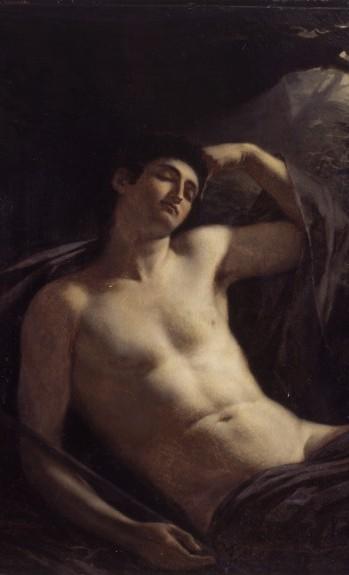 Louis-edouard Rioult, Le sommeil d'Endymion, 1822, musee d'Art moderne de Saint-etienne