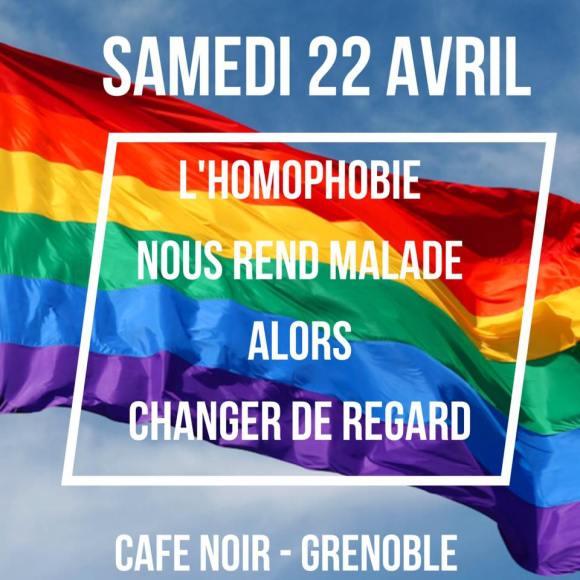 SOS homophobie 4 ans Le Café Noir Grenoble samedi 22 avril 2017