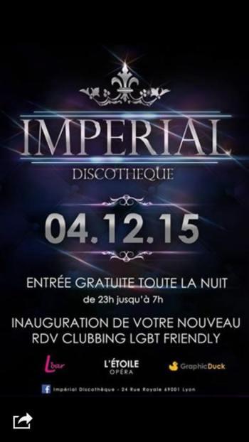 inauguration l'Impérial discotheque lyon heteroclite club gay lesbien friendly