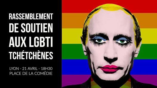 Rassemblement de solidarité avec les gays de Tchétchénie à Lyon