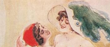 avanzo tango & cie carte postale soviétique des années 20 représentant deux femmes dansant le tango queer lesbian dance