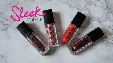 Sleek makeUP 'Say the magic word' Matte me lip collection - velvet slipper - birthay suit - rioja red - old hollywood