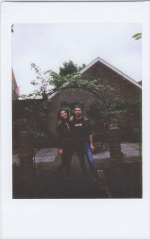 Polaroid foto binnentuin 'Hotel de Tabaksplant'