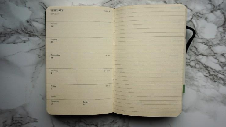 Moleskine weekly notebook blog