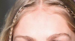 Front hair braids catwalk