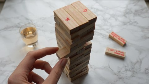 Jenga drankspel zelf maken DIY Nederlands