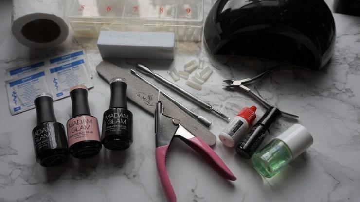 benodigdheden builder gel nails tools
